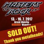 Letošní Masters Of Rock hlásí VYPRODÁNO!!!
